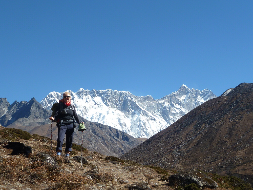 EFT Tapping Takes User from Chronic Fatigue Syndrome (CFS) Sufferer to Trekking Mt. Everest: lise trekking to Everest 2010